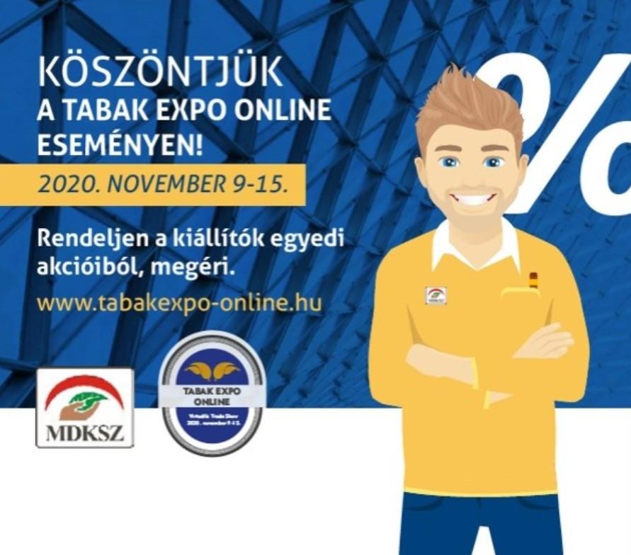 A TABAK EXPO Online virtuális trade show megnyitotta kapuit!