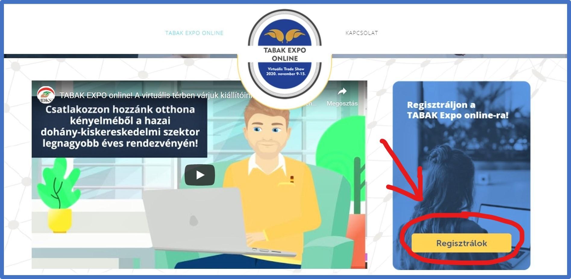 MÁR LEHET REGISZTRÁLNI! www.tabakexpo-online.hu